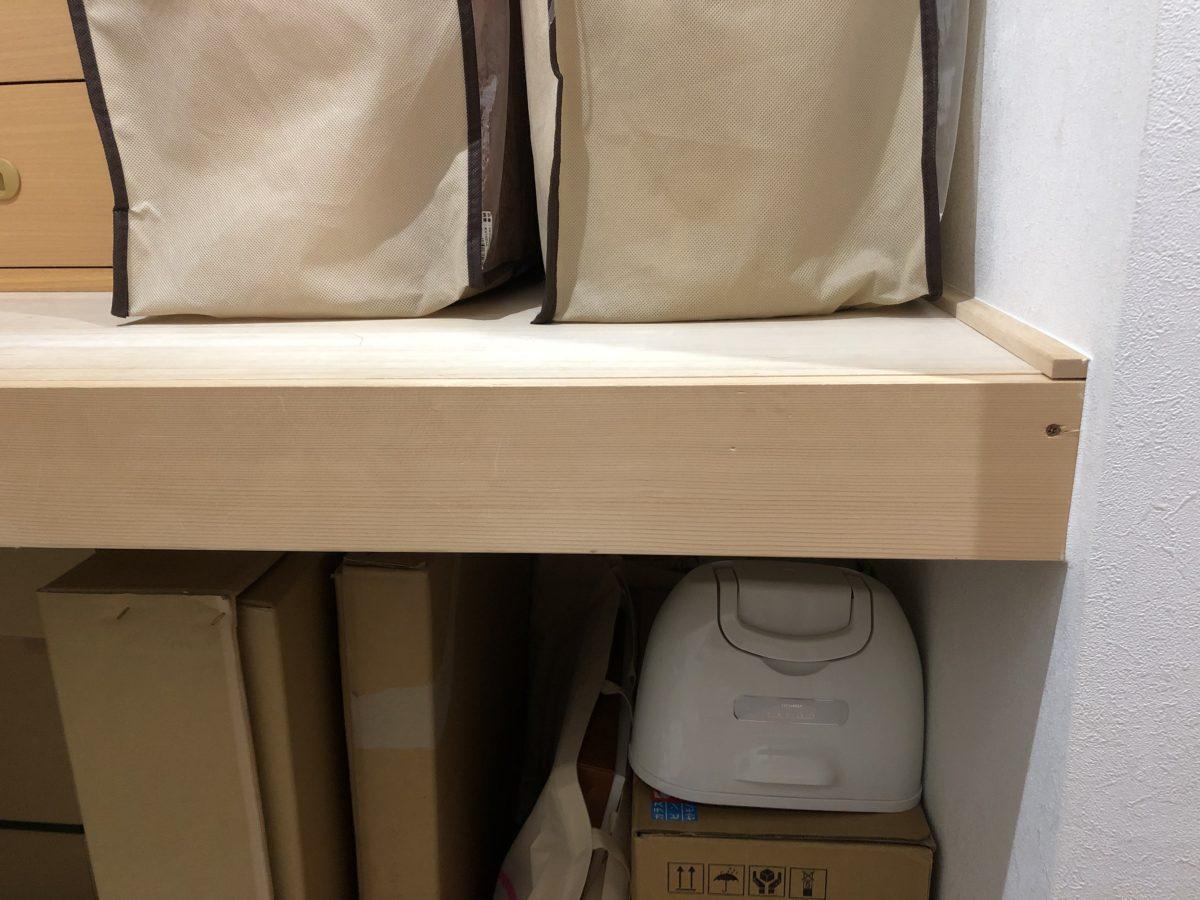 一条工務店アイスマートの納戸に設置したオプションの中段